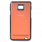 Protective PC Back Case for Samsung Galaxy S2 i9100 (Gold Orange)
