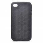 Stylish Football Pattern Protective Case for iPhone 4 - Black