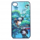 Vivid Kung Fu Panda 3D Graphic Pattern Protective Back Back Case for iPhone 4 (Green)