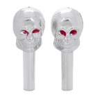 Skull Style Decorative Car Interior Door Lock Cover Knobs (Pair)