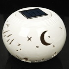 Meteor Shower Pattern Solar Powered White + Color Changing LED Night Lamp