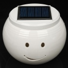 Smile Face Solar Powered White + Color Changing LED Night Lamp