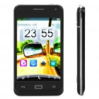 "XP258+ GSM Touch Barphone w/ 4.0"" Resistive, Dualband, Dual SIM, Wi-Fi and JAVA - Black"