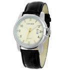 Stylish Water Resistant Quartz Wrist Watch with Date Display - Black + White (1 x 377)