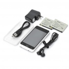 "XP258+ PDA Barphone w/ 4.0"" Capacitive, GSM Dualband, Dual SIM, Wi-Fi and G-sensor - White"