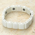 Stylish Lava Rock Nano Bracelet Wrist Band - White