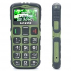 "S908 1.7"" LCD Screen Dualband GSM Cell Phone w/ Touch/FM/SOS for Senior Citizens - Green"
