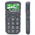 "S908 1.7"" LCD Screen Dualband GSM Cell Phone w/ Touch/FM/SOS for Senior Citizens - Coffee"