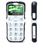 "S908 1.7"" LCD Screen Dualband GSM Cell Phone w/ Touch/FM/SOS for Senior Citizens - White"