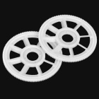 Main Drive Gear for 450 R / C Airplane V2 / V3 / PRO - White (2-Pack)