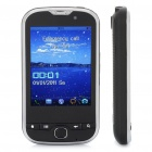 "T900 GSM TV Cell Phone w/ 2.8"" Resistive Touch Screen, Quadband, Dual SIM, FM and Java - Black"