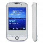 "T900 GSM TV Cell Phone w/ 2.8"" Resistive Touch Screen, Quadband, Dual SIM, FM and Java - White"