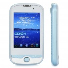 "T900 GSM TV Cell Phone w / 2,8 ""Resistive Touch Screen, Quadband, Dual SIM, FM und Java - Blue"