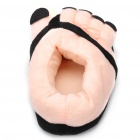 Novelty Feet Style Plush Fabric Soft Indoor Winter Cotton Slippers - Pink (Size: 36~42)