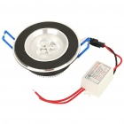 3W 6500K 200LM 3-LED White Ceiling Down Light (85~265V)