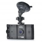 "Dual Lens CMOS Wide Angle Car DVR Camcorder w/ 4-IR LED / SD / AV-Out (2.7"" TFT LCD)"