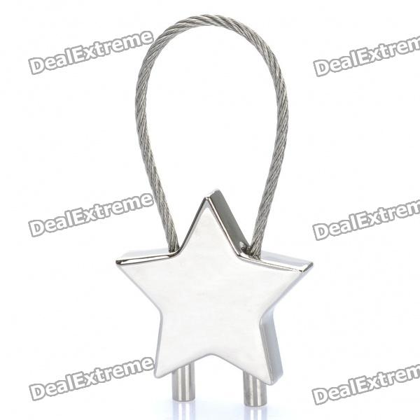 Zinc Alloy Star Style Button Steel Strap Keychain от DX.com INT