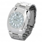 Stylish White LED Digital Wrist Watch w/ Time / Week / Date Display - Silver (2 x CR2016)
