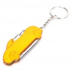 Cool Car Style 4-in-1 Mini Knife Keychain with Small Knife / File / Can Opener / Bottle Opener