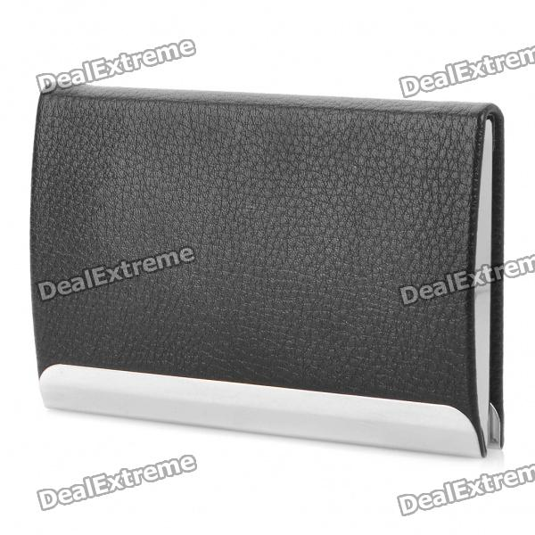 Stainless Steel + PU leather Business Card Case - Random Color цена и фото