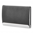 Stainless Steel + PU leather Business Card Case - Random Color