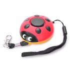 Mini Ladybug Style Anti-Robbery Alarm Warner - Red + Black + Yellow (4 x LR44)