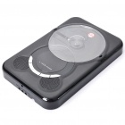 "Stylish Wall Mounted 1"" LED CD Player with USB / SD Slot - Black"