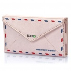 SAMDI Envelope Style Protective PU leather Case for Iphone 4 / 4S - Pink