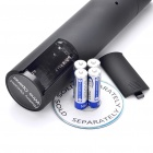 Electric Wine Opener with 2-in-1 Matching Base + Foil Cutter - Black (4 x AA)