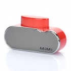 Mini USB Rechargeable 1200mAh Battery w/ Strap for iPhone 3 / 3GS / 4 / 4S / iPod - Red