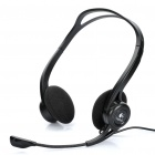 Genuine Logitech 860 Stereo Headset w/ Microphone / Volume Control - Black