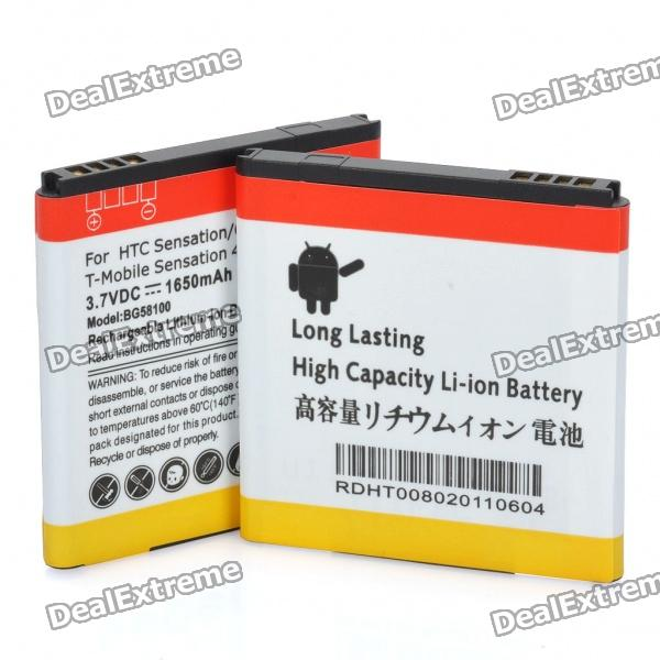 Replacement 3.7V 1650mAh Battery for HTC Sensation G14 (Pair)