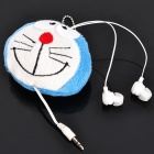 Cute Cartoon Doraemon Figure Style Earphone with Chain (3.5mm Jack / 72cm-Cable)