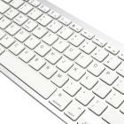 78-Key Bluetooth V3.0 Wireless Keyboard - Branco + Prata (2 x AAA)