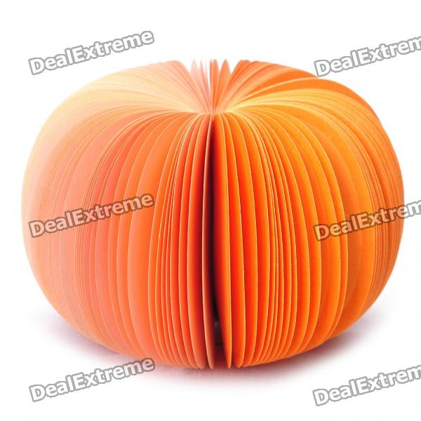 Creative Pumpkin Style Memo Pad (About 150-Page) unique creative apple shaped memo pad large about 150 page