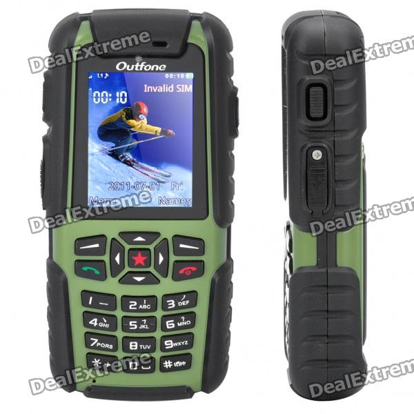 "Outfone A83 Ultra-Rugged Waterproof GSM Cellphone w/ 2.0"" LCD, PPT, JAVA and 512MB TF - Green"