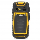 "Outfone A83 Ultra-Rugged Waterproof GSM Cellphone w/ 2.0"" LCD, PTT, JAVA and 512MB TF - Yellow"