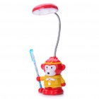Cute Monkey King Style Rechargeable Flexible 2-Mode Weiß 18-LED Desk Light Table Lamp (Gelb)