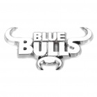 Decorative Bull Head Style Car Sticker - Silver