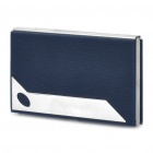 Stylish Stainless Steel Name Card Case - Blue