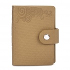 Stylish Folding Soft PU Leather Card Holder Pouch - Beige (Holds 10-Piece)