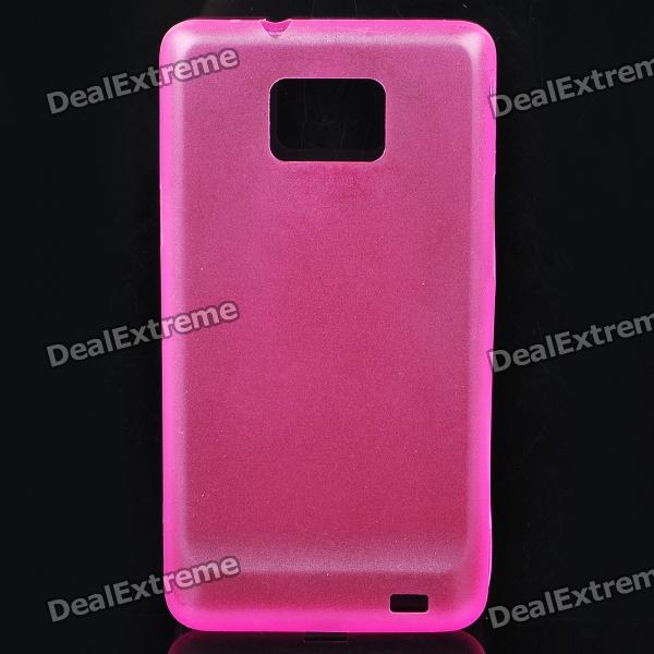 Protective PC Back Case for Samsung i9100 - Deep Pink
