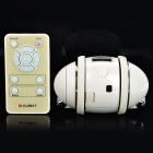 "iCUBOT Bluetooth DIY Programmable MP3 Dancing Robot Speaker w/ 1.0"" LCD, LED Light - White (4GB)"