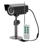 Water Resistant 300KP Security Camera with 45-LED IR Night Vision / Remote Controller / TF - Black