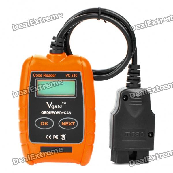 VC310 1.4 LCD Car Vehicle Diagnostic Tool Scanner - Orange + Black original autel maxitpms ts501 with obd2 adapters tpms diagnostic