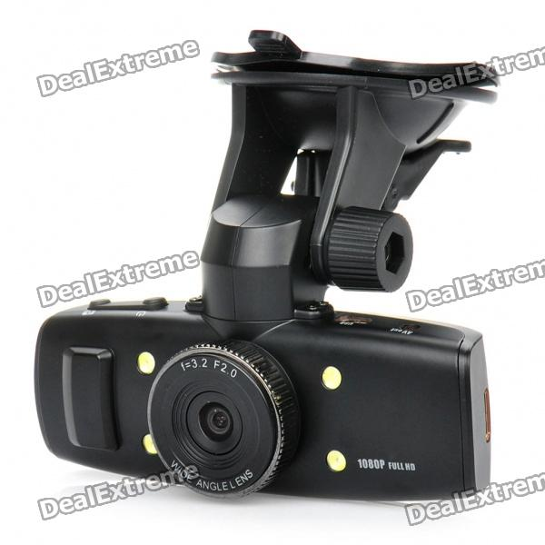 5.0MP 1/2.5 CMOS Wide Angle Car DVR Camcorder w/ 4-LED Night Vision / TF / HDMI / AV-Out (1.5 LCD) 720p 5mp wide angle car dvr camcorder w night vision tv out hdmi tf silver grey 2 4 tft lcd