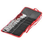 Professional Make-up Cosmetic Brushes Set - Black + Silver (18-Piece Set)