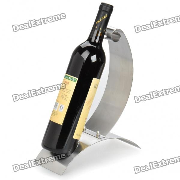 Elegant Stainless Steel Wine Bottle Holder Rack Silver