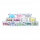 12-Color Sparkle Glitter Nail Powder Kit