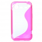 Protective Back Case for HTC Incredible S710 G11 (Deep Pink + Transparent White)
